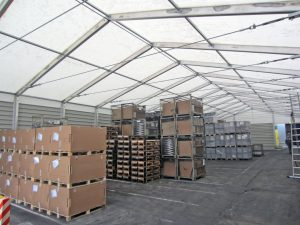 Lagerzelt von Kunden